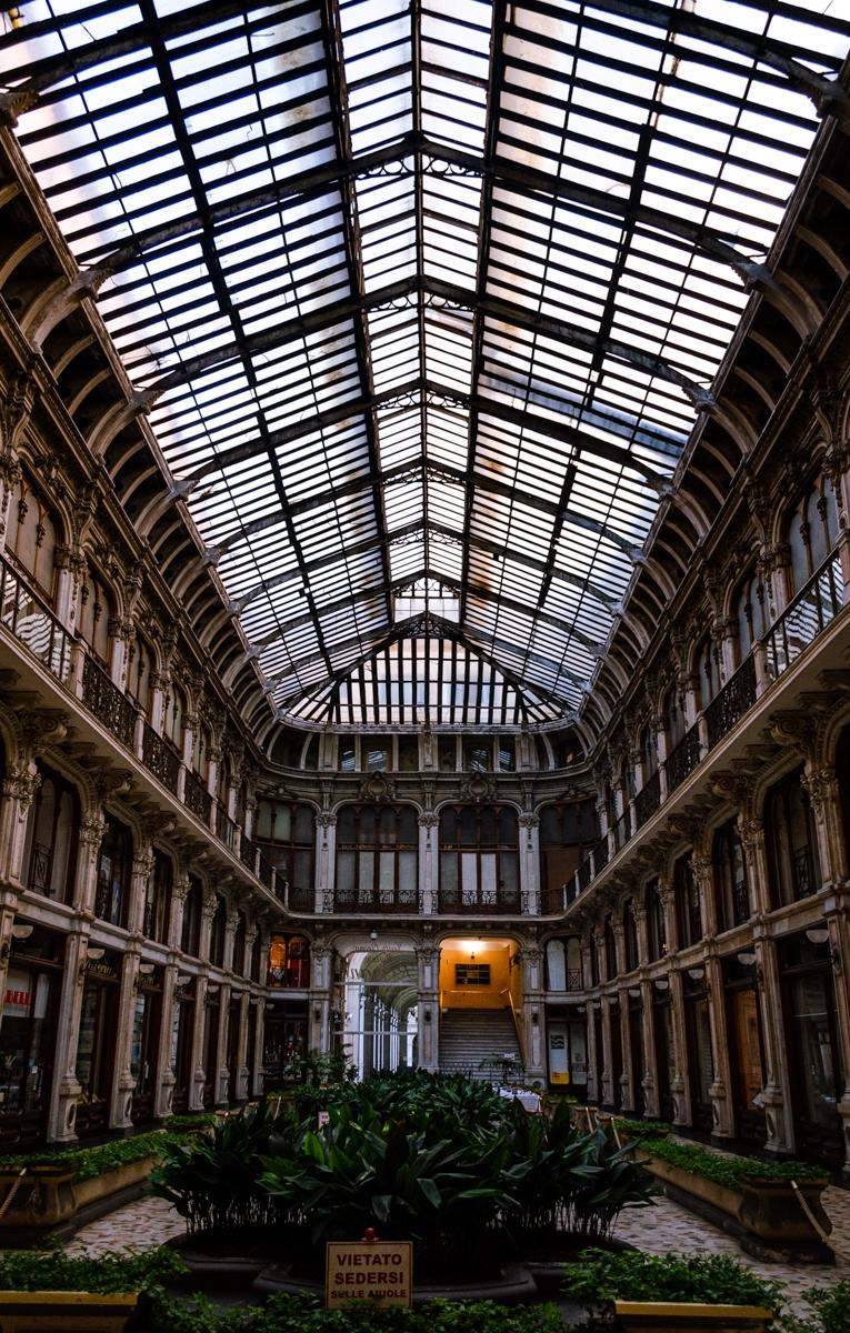 Verrière dans un bâtiment à Turin
