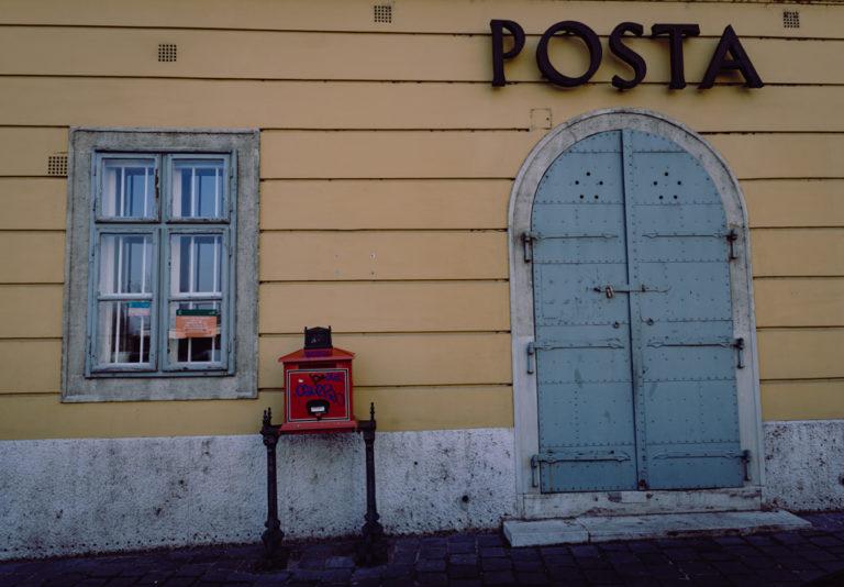 Budapest façade de la poste